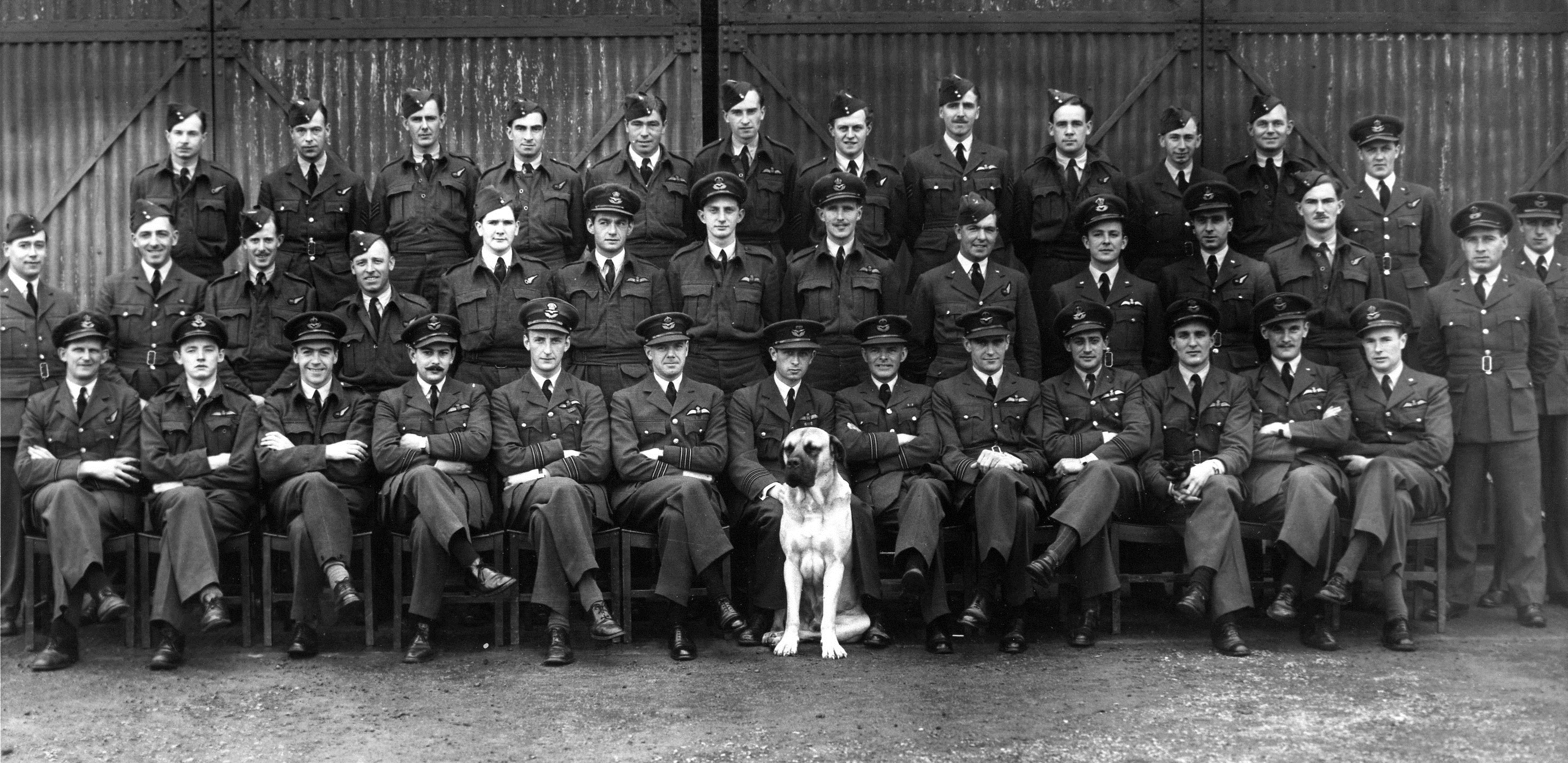 No.255 Squadron Officers and Aircrew, circa 16.July.1942