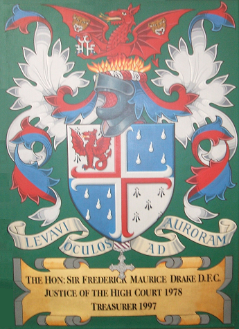Coat-of-Arms of the late Sir Maurice Drake, DFC